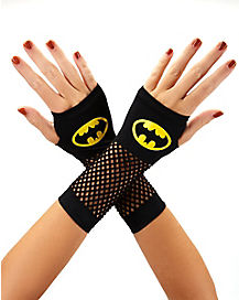 Batman Fishnet Yellow Logo Gloves