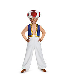 Kids Toad Costume Deluxe - Mario Bros