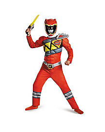 Power Rangers Dino Charge Red Ranger Boys Costume