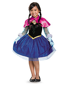 Frozen Anna Traveling Ballerina Girls Costume