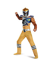 Kids Gold Ranger Costume - Power Rangers Dino Charge