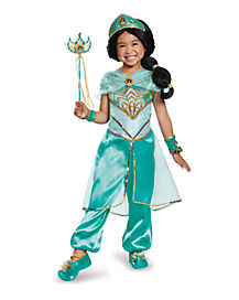 Jasmine Deluxe Girls Costume