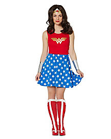 Wonder Woman Lace Back Dress