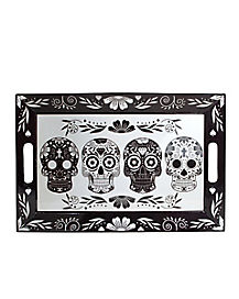 Black and White Sugar Skull Tray