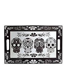 Black and White Sugar Skull Tray