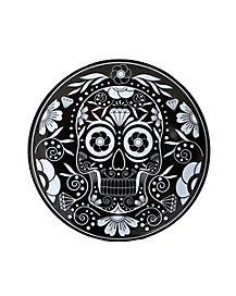 Sugar Skull Black Dinner Plate