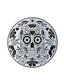 Sugar Skull White Dinner Plate