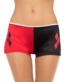 Harley Quinn Boyshort Panties with Lace Up Sides - DC Comics