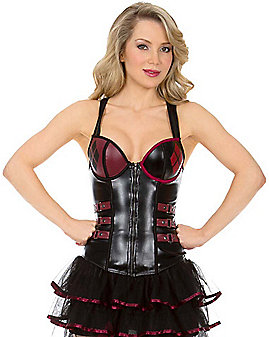 Adult Harley Quinn Corset - Batman: Arkham Knight