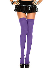 Purple Thigh High Stockings