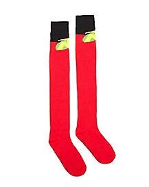 Dark Robin Over the Knee Socks - DC Comics