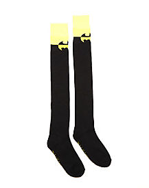 Two Tone Batman Over the Knee Socks - DC Comics