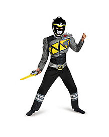 Kids Black Ranger Costume - Power Rangers Dino Charge