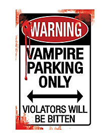 Vampire Parking Sign - Decorations