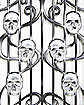 3 Ft Skull Swirl Fence - Decorations