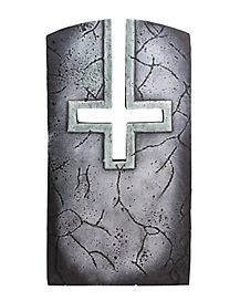 3 Ft Inverted Cross Tombstone - Decorations