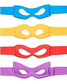 Teenage Mutant Ninja Turtles Kids Masks 4 Pack