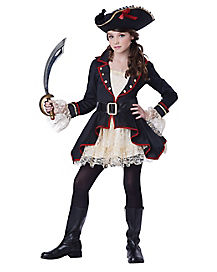 Tween High Seas Captain Pirate Costume