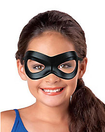 Girls Black Superhero Mask