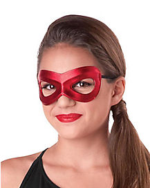 Girls Red Superhero Mask
