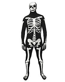 Adult Glow Skeleton Skin Suit Costume
