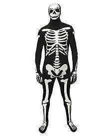 Adult Glow Skeleton Skin Suit Costume
