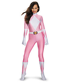 Power Rangers Pink Ranger Bodysuit Womens Costume