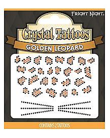 Golden Leopard Temporary Tattoos