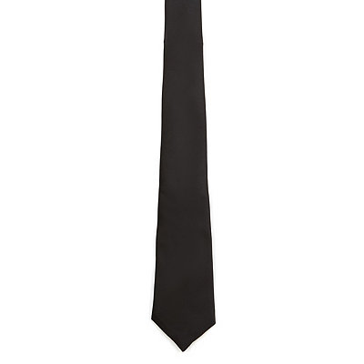 Basic Black Mens Tie