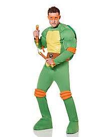 Adult Michelangelo Costume Deluxe - Teenage Mutant Ninja Turtles