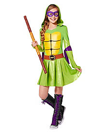 Kids Hooded TMNT Dress Costume - Teenage Mutant Ninja Turtles