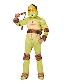 Kids Michelangelo One Piece Costume Deluxe - Teenage Mutant Ninja Turtles