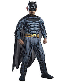 Kids Grey and Black 3D Batman Costume - DC Comics