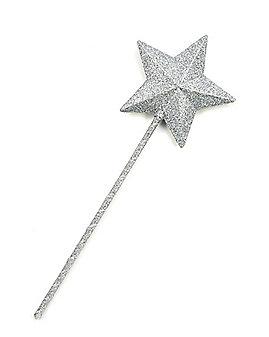 Silver Star Glitter Wand
