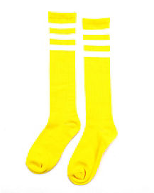 Kids Yellow Athletic Socks