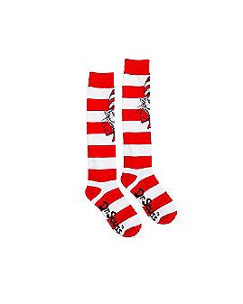 Striped Cat in the Hat Knee High Socks - Dr. Seuss