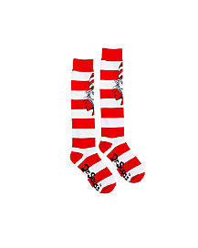 Striped Cat in the Hat Knee High Socks - Dr Seuss