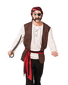 Adult Grab N Go Pirate Costume