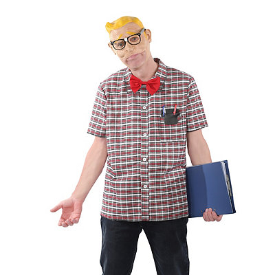 Grab N Go School Nerd Adult Costume