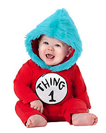 Toddler Thing 1 Thing 2 Hooded Costume - Dr Seuss