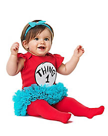 Toddler Thing 1 and Thing 2 Tutu Costume - Dr Seuss