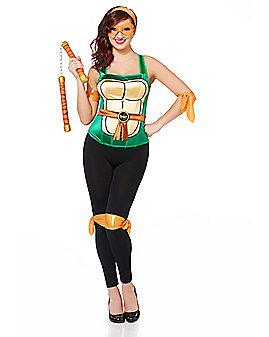 Metallic Michelangelo Costume Kit - Teenage Mutant Ninja Turtles