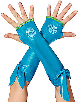 Kids Metallic Leonardo Arm Warmers - Teenage Mutant Ninja Turtles