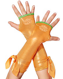 Girls TMNT Michelangelo Metallic Armwarmers