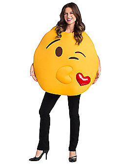 Adult Kiss Emoji Costume