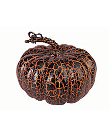 8 in Wide Orange and Black Crackly Pumpkin