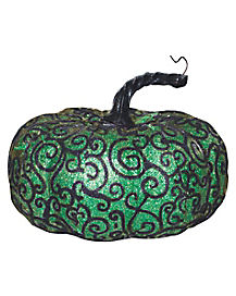 Wide Green Lace Pumpkin