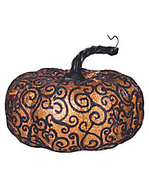 Wide Orange Lace Pumpkin