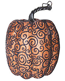 Tall Orange Lace Pumpkin
