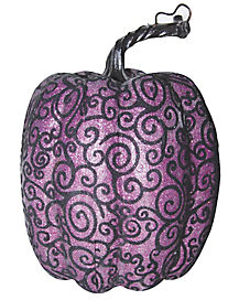 Tall Purple Lace Pumpkin